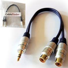 From 4.49:Pro - 3.5mm Stereo Plug Cable To 2 Rca Female/socket - Aux Phono Jack Audio Adapter Gold Lead - Cablefinder Official