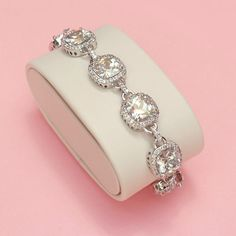 Halo Cushion Cut Bracelet...you need this Serina!