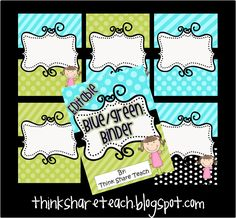 Think * Share * Teach: Freebie Editable Binder Dividers and FAQ School Resources, Teacher Resources, Teaching Ideas, Classroom Setup, Classroom Displays, School Stuff, Organizing Important Papers, Teacher Binder Organization