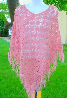 Poncho Crochet Two Rectangle Easy Pattern by ToppyToppyKnits