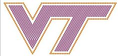 Virginia Tech University Rhinestone Transfer Show your college pride and spirit with heat transfers from Arden's Printing Plus. With cost-effective iron-on transfer selections, it's easy to display allegiance to your school. Whether hanging out with your sorority sisters or attending a lecture, a flattering rhinestone design is sure to get you noticed on campus. Quick, convenient, and affordable, our rhinestone heat transfers make a fun fashion statement!
