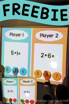 The math game they will beg to play! Early Learning, Student Learning, Teaching Kindergarten, Preschool, Skills To Learn, Play To Learn, Circle Time Activities, 1st Grade Math, Math Facts