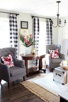 44 modern farmhouse living room decor ideas