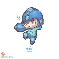 475 - Megaman, Jr Pencil on ArtStation at https://www.artstation.com/artwork/gKbeP