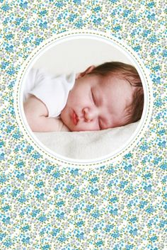 Dankeskarte Mini Liberty by Tomoë für Rosemood.de #Blumen #Danksagung # Baby