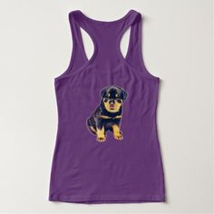 #Rottweiler Puppy Tank Top - #rottweiler #puppy #rottweilers #dog #dogs #pet #pets #cute