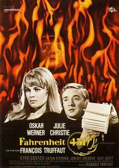 'Fahrenheit 451' es la historia de una sociedad futurista donde se han prohibido los libros. Nadie mejor que Truffaut, un gran amante de los libros, para llevarla a la gran pantalla. Se estrenó el 6 de septiembre de 1966 en el Festival de Venecia. Fue su primera película producida integramente por capital no francés.