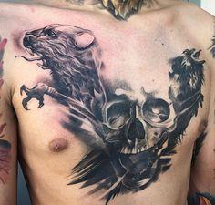 Badass tattoo done by Mickey C at High Voltage Tattoo