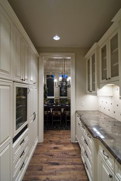 Butlery with wine cooler, lots of storage, and plenty of counter-top...