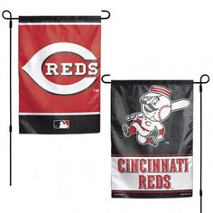 Cincinnati Reds Flag 12x18 Garden Style 2 Sided #CincinnatiReds