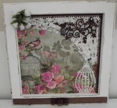 """O quadro """"Flower bird"""" foi feito especialmente para presentear uma madrinha de casamento"""