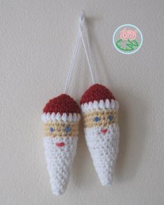 Amigurumi Santa Ornament (© 2013 Toma Creations), free pattern