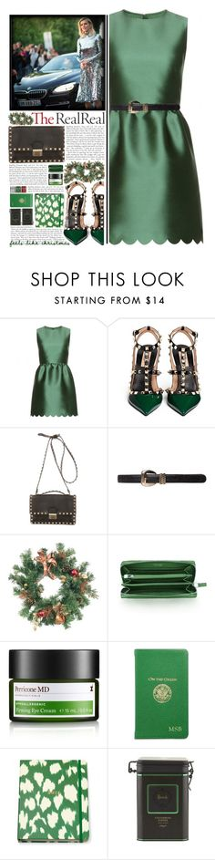 """""""""""Holiday Sparkle With The RealReal"""" - Contest Entry"""" by arierrefatir ❤ liked on Polyvore featuring RED Valentino, Valentino, Tiffany & Co., Perricone MD, Graphic Image and Harrods"""