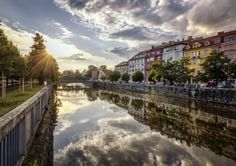 Evening in Ceske Budejovice by Petr Kubát on Amazing Photography, Dolores Park, Explore, Architecture, City, Gallery, Travel, Facebook, Czech Republic