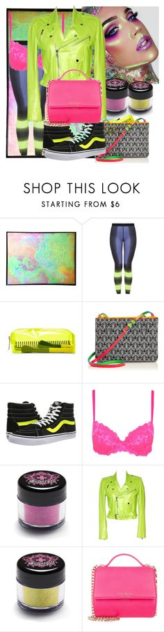 """Neon 🗣"" by fourton ❤ liked on Polyvore featuring beauty, Monreal, Forever 21, Liberty, Vans, George, Sugarpill, Ralph Lauren and Givenchy"