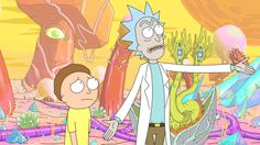 Morty and his unpredictable grandfather Rick