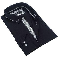 Coogi Mens /White Patterned Dress Shirt