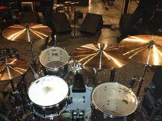 Percussion World's Paiste cymbal setup