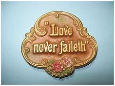 Love never faileth