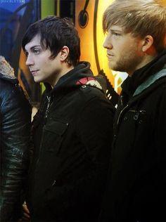 My Chemical Romance - Frank Iero Brian Molko, Emo Bands, Music Bands, My Chemical Romance, Bob Bryar, Frank Lero, Black Parade, Mikey Way, Gerard Way