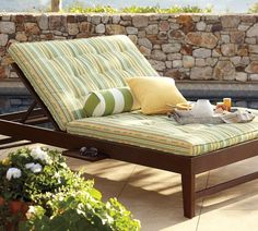 Chesapeake Double Chaise & Cushions is Perfect for cuddle time outdoors watching the stars, or basking in the sun sharing a good book, what ever you chose your  can share many a special memories lounging side by side. (Robin)