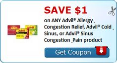 New Coupon!  SAVE $1.00 on ANY Advil® Allergy & Congestion Relief, Advil® Cold & Sinus, or Advil® Sinus Congestion & Pain product! - http://www.stacyssavings.com/new-coupon-save-1-00-on-any-advil-allergy-congestion-relief-advil-cold-sinus-or-advil-sinus-congestion-pain-product-2/