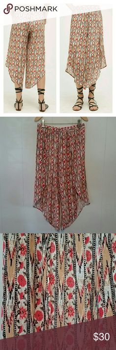 Anthropologie | Lilka Maike Pants Split leg/wrap style pant. These have overlapping fabric that splits/overlaps at about the knee and up to about the lower hip- shorts length). Lovely, flowy, crinkle fabric with elastic waistband. Excellent condition, only worn a few times. Anthropologie Pants