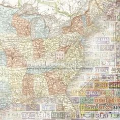 USA Map West X Scrapbooking Paper Arts And Crafts - Us paper map