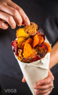 Sweet Potato & Beet Chips: Vegetable chips are an insanely satisfying snack, and unlike many store-bought veggie chips loaded with oil, you can feel good munching on these.