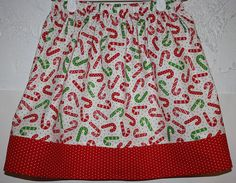 Candy Cane Skirt  Size 2  8  Have size  6  Ready to Ship