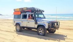 Defender on the Beach in NSW, Australia