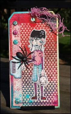 Artwork created by Coco Rollet using rubber stamps designed by Daniel Torrente for Stampotique Originals