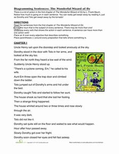 sentences  worksheets and charts on pinterest