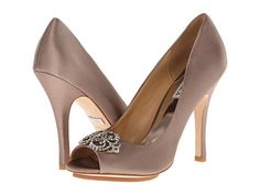 Badgley Mischka Susan Ivory Satin - 6pm.com