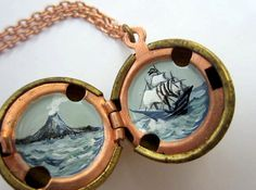 Pirate secret locket $40 >> This is super!