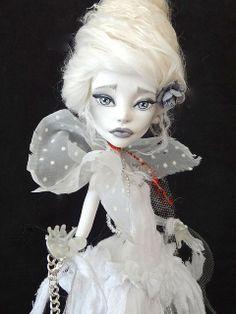 The Ghost of Marie Antoinette (Custom Monster High doll)  by Marina's art dolls, via Flickr