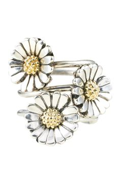 Trollbeads Daisy Ring - Stacked - I have one and I love it. Probably one of the most unique pieces I own.