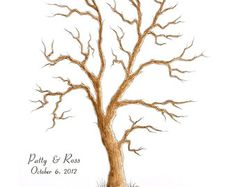 water color, family tree wedding sign in - Google Search