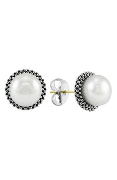 LAGOS 'Luna' Pearl Small Stud Earrings available at #Nordstrom