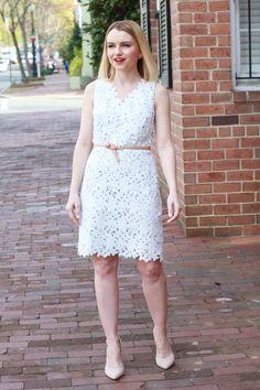 LOFT Lace Dress - via @poorlilitgirl