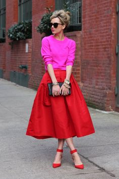 The color, the silhouette - the shoes! How to Wear Bright Color in The Fall and Winter: New Color Combinations to Try