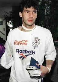 """La Bomba"" Ruben Ruiz Diaz. Arquero necaxista en 2003"