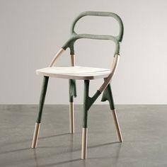 Exposition Etreinte - design Elise Gabriel - Galerie Gosserez - Chaise Liga