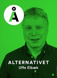 Election Poster: Alternativet - Uffe Elbræk (Denmark: 2015)
