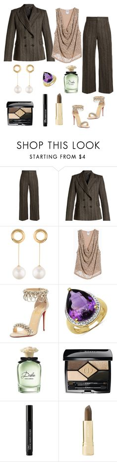 """""""Untitled #848"""" by mamatoodie-1 ❤ liked on Polyvore featuring Isabel Marant, Joanna Laura Constantine, Haute Hippie, Christian Louboutin, Olivia Leone, Dolce&Gabbana, Christian Dior and Axiology"""