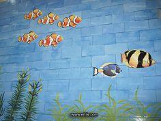 #Iranian_ceramic_for_swimming_pool Drawn Fish, Swimming Pool Tiles, Fish Drawings, Iranian, Ceramics, Character, Design, Ceramica, Pottery