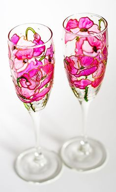 Personalized Wedding Glasses Champagne Glasses Wedding Toasting Flutes, Bride and Groom