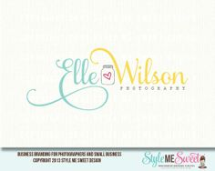 Elle Wilson Premade Photography Logo