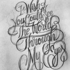 .@// Bijdevleet // | Tattoo design WIP first sketch for @porseleinenhuid #script #tattoo #handlett... | Webstagram