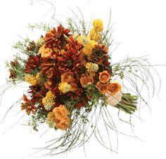 A cascade of love, this bouquet features rosemary, scotch broom, buddleia, rudbeckia and spray roses. Adrianne Smith Floral Design, 760.753.4117, asmithfloral.com.